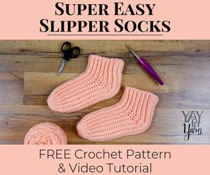 Super Easy Slipper Socks