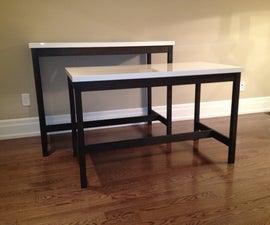 Bar Table and Desk - Using IKEA Table Tops (VIKA AMON)