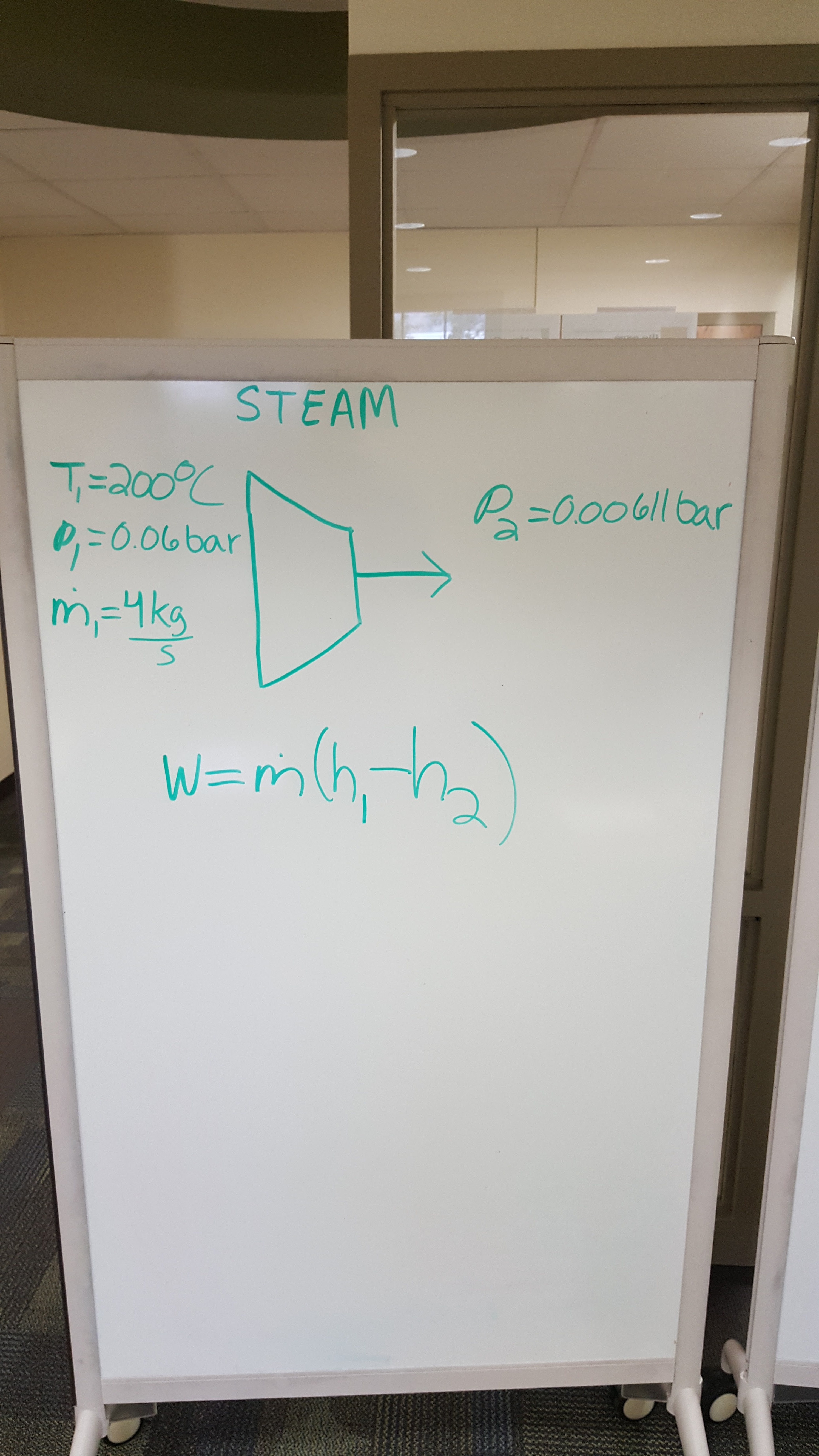 Picture of Solve Using the Equation W=m*(h_1-h_2)