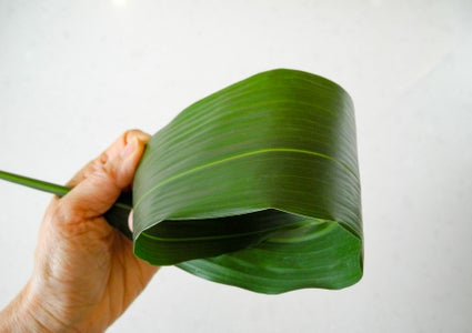 If Desired, Roll Leaves Into Decorative Loop