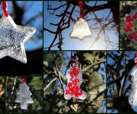 Ice Decorations for the outdoors, Christmas or any winter celebration.