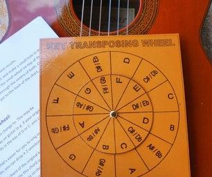 Key Transposing Wheel for Chords