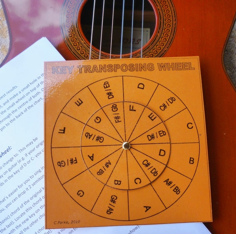 Key Transposing Wheel For Chords 7 Steps With Pictures