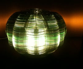 Recycled CDs Lamp