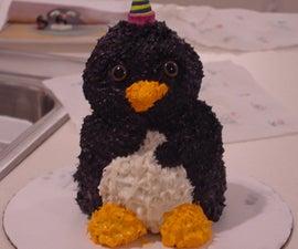 3D Penguin Birthday Cake