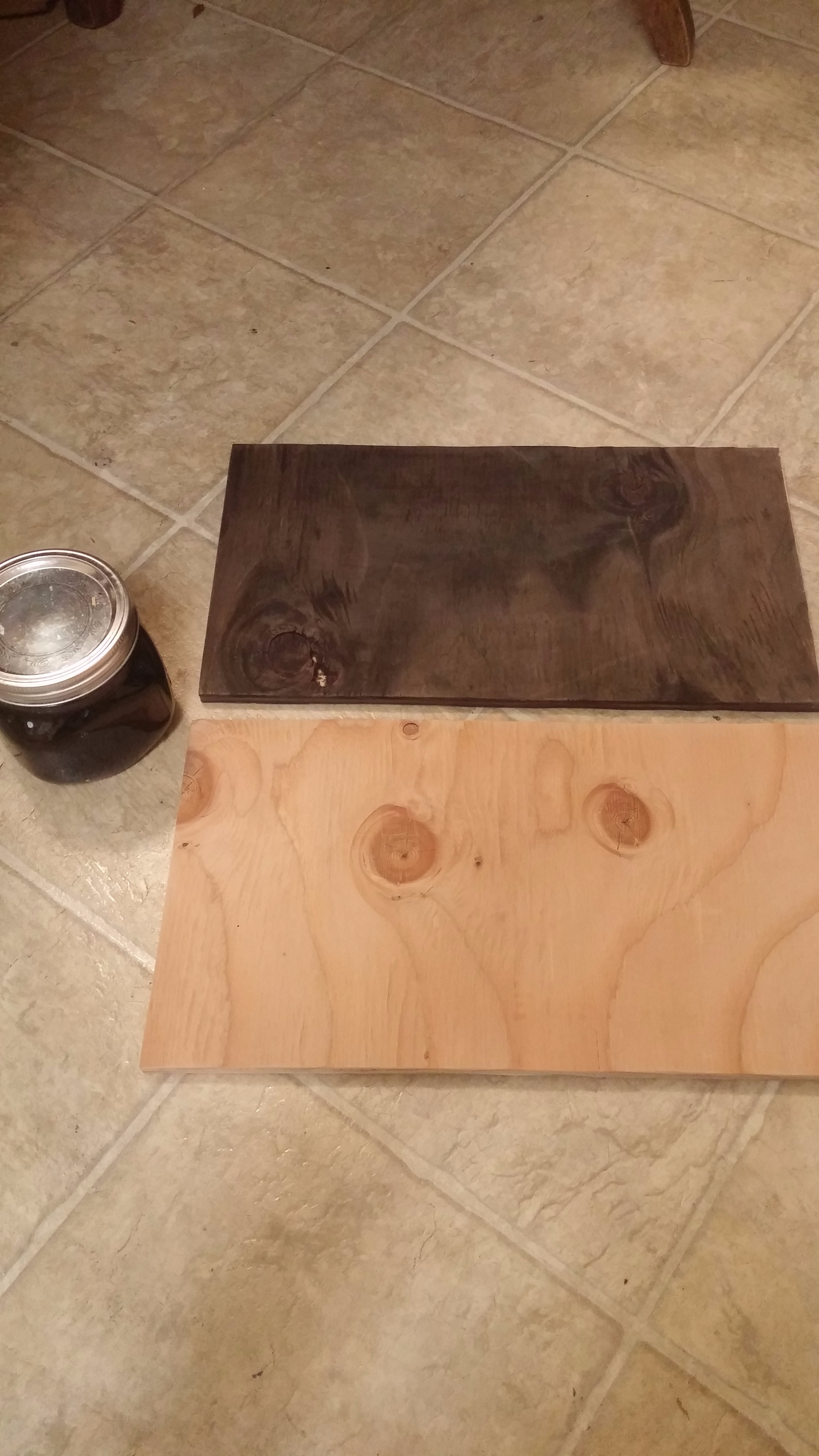Picture of *optional* Stain the Wood Using Used Coffee Grounds.