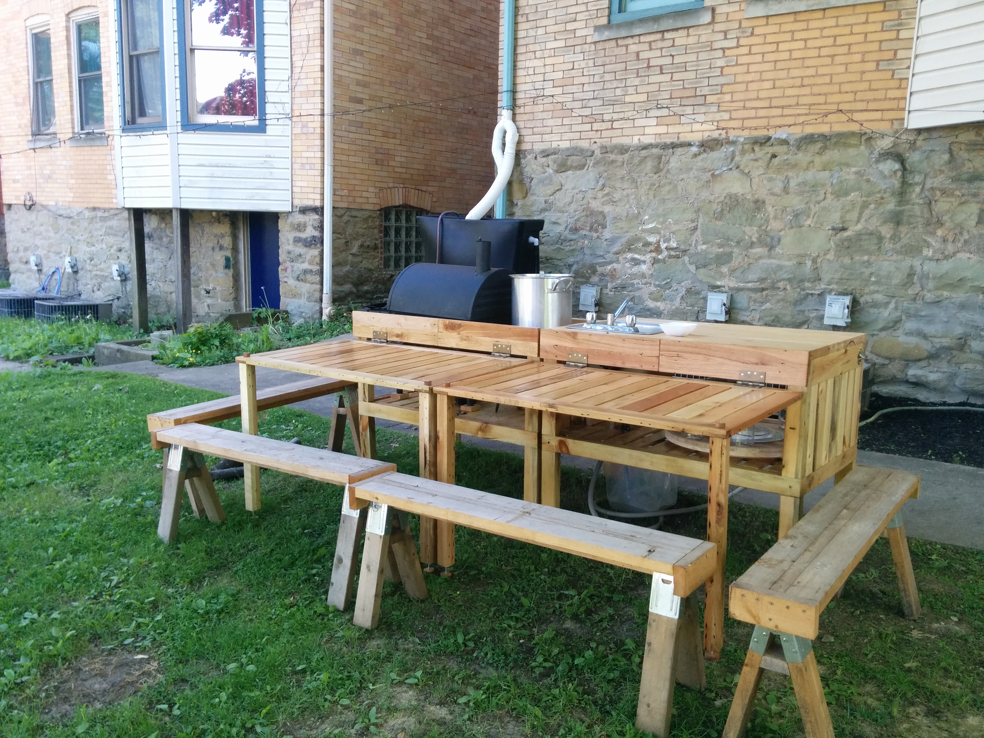 Picture of Backyard Kitchen Made From Reclaimed Materials