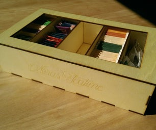 Laser-Cut Windowed Teabox