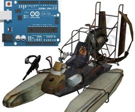 Arduino Uno Airboat Controlled w/ Joystick and DC Motor