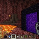 How to make the nether portal in minecraft pe