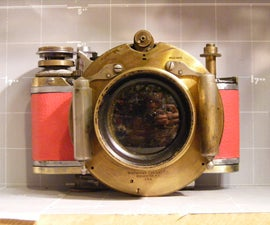 """Soul Capturer"" 100 year lens to 35mm,haunted christmas camera. special steampunk film"