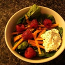 Carrot, Raspberry, Spinach Salad
