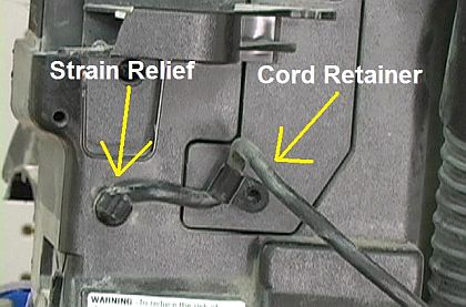 Remove the Old Power Cord From the Vacuum