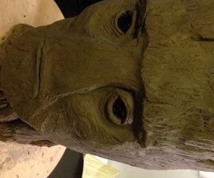 Groot Head Sculpture