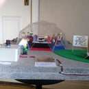 Arcrylic geodesic dome with LDR lighting system