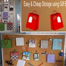 Easy & Cheap Storage using Gift bags