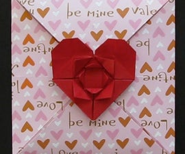 How To Make An Origami Heart & Flower Envelope (For Valentines Day)!