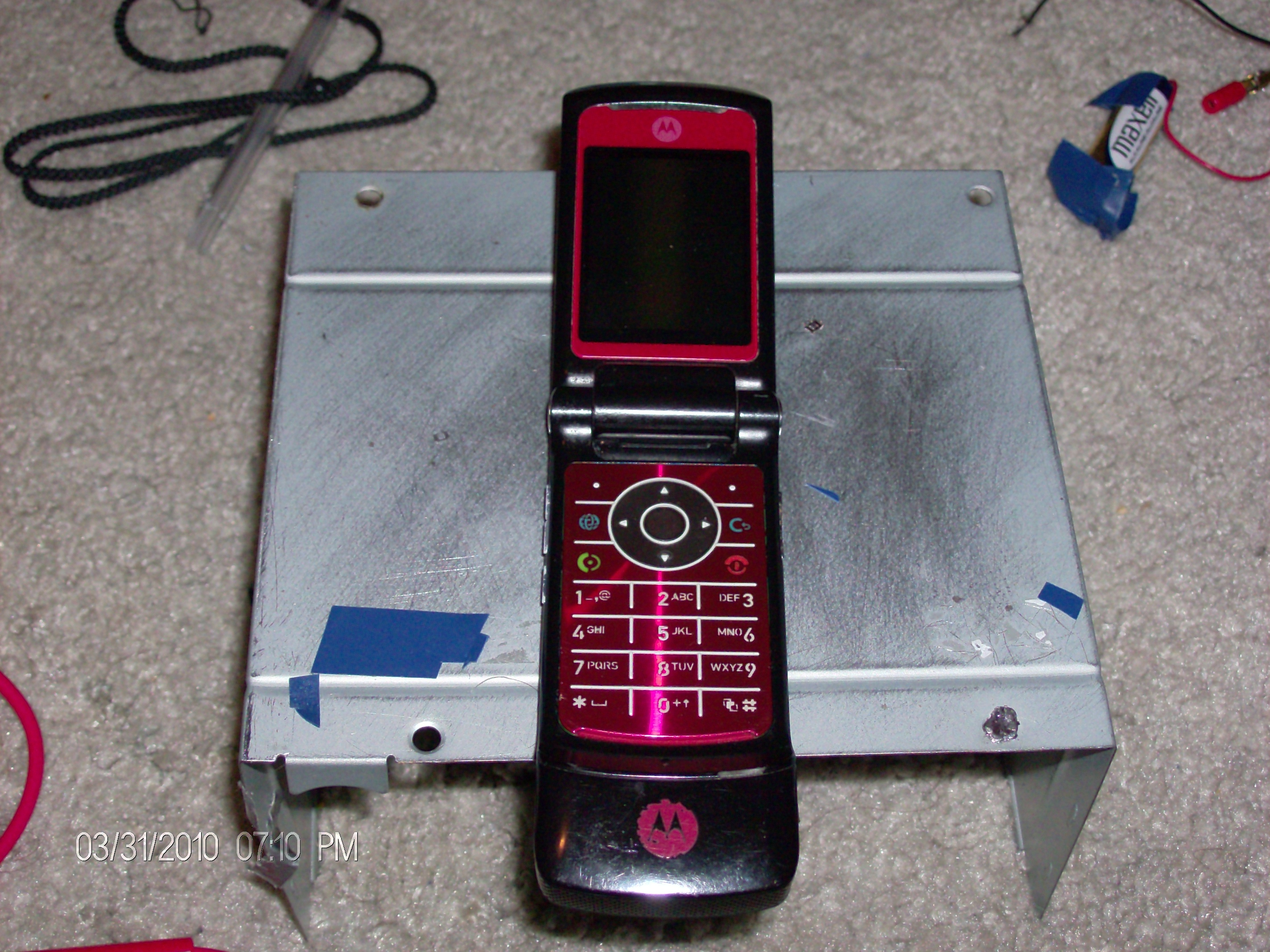Picture of Dissasembly of Motorola K1 Cellphone