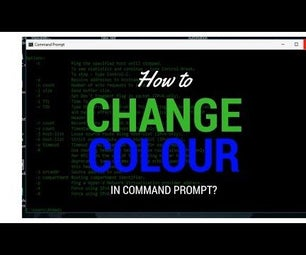 Change Colour in Command Prompt (Make It More Like Hacker)