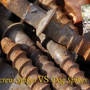 How to distinguish between screw spikes and dog spikes?