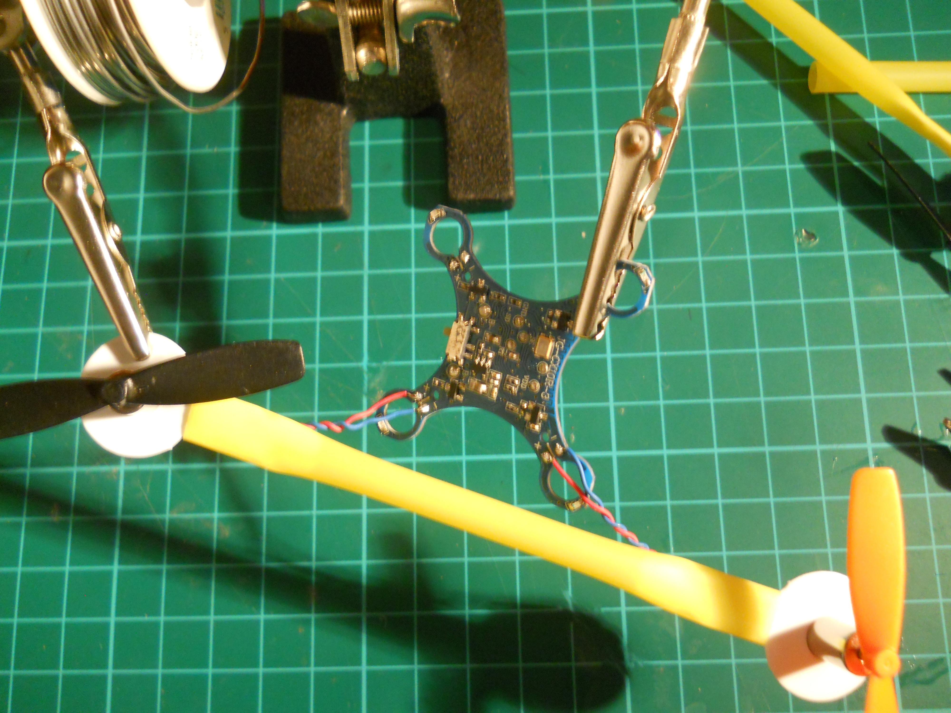 Picture of Soldering to the Circuit...