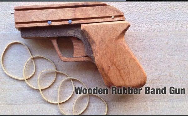 Wooden Rubber Band Gun