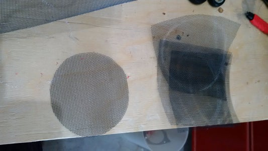 Trace Your Container Onto Metal Screening and Cut It Out