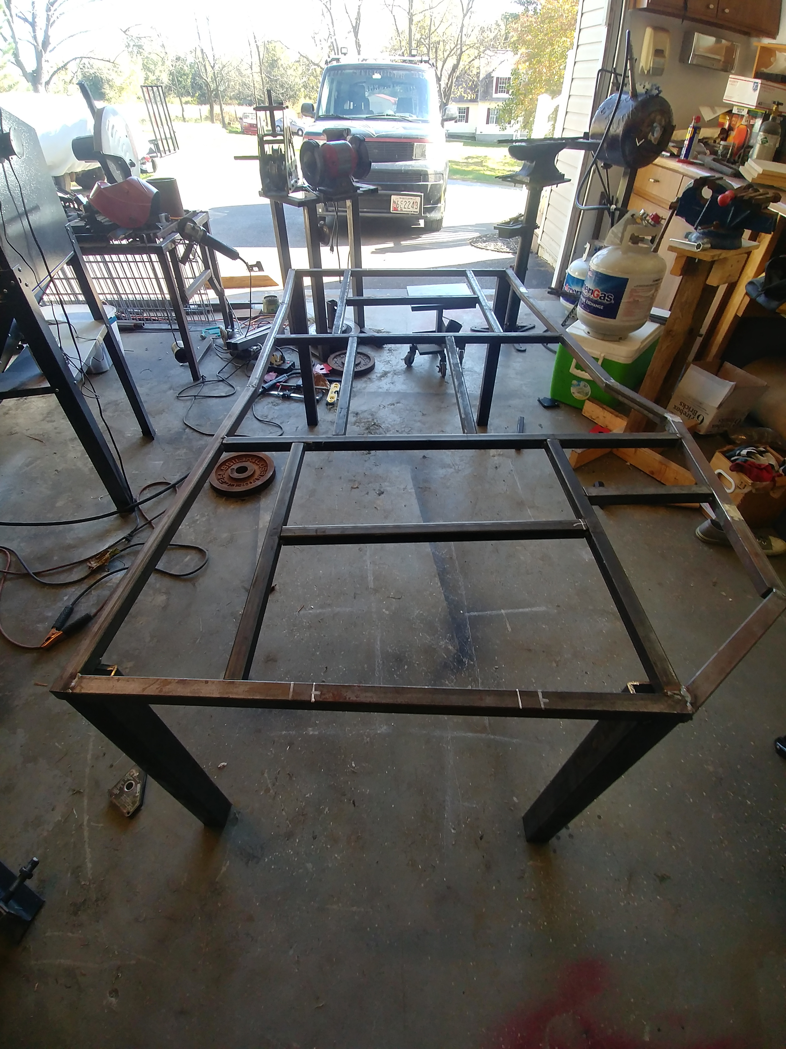 Picture of Adding Legs and Cutting Sheet Metal to Fit the Center Piece