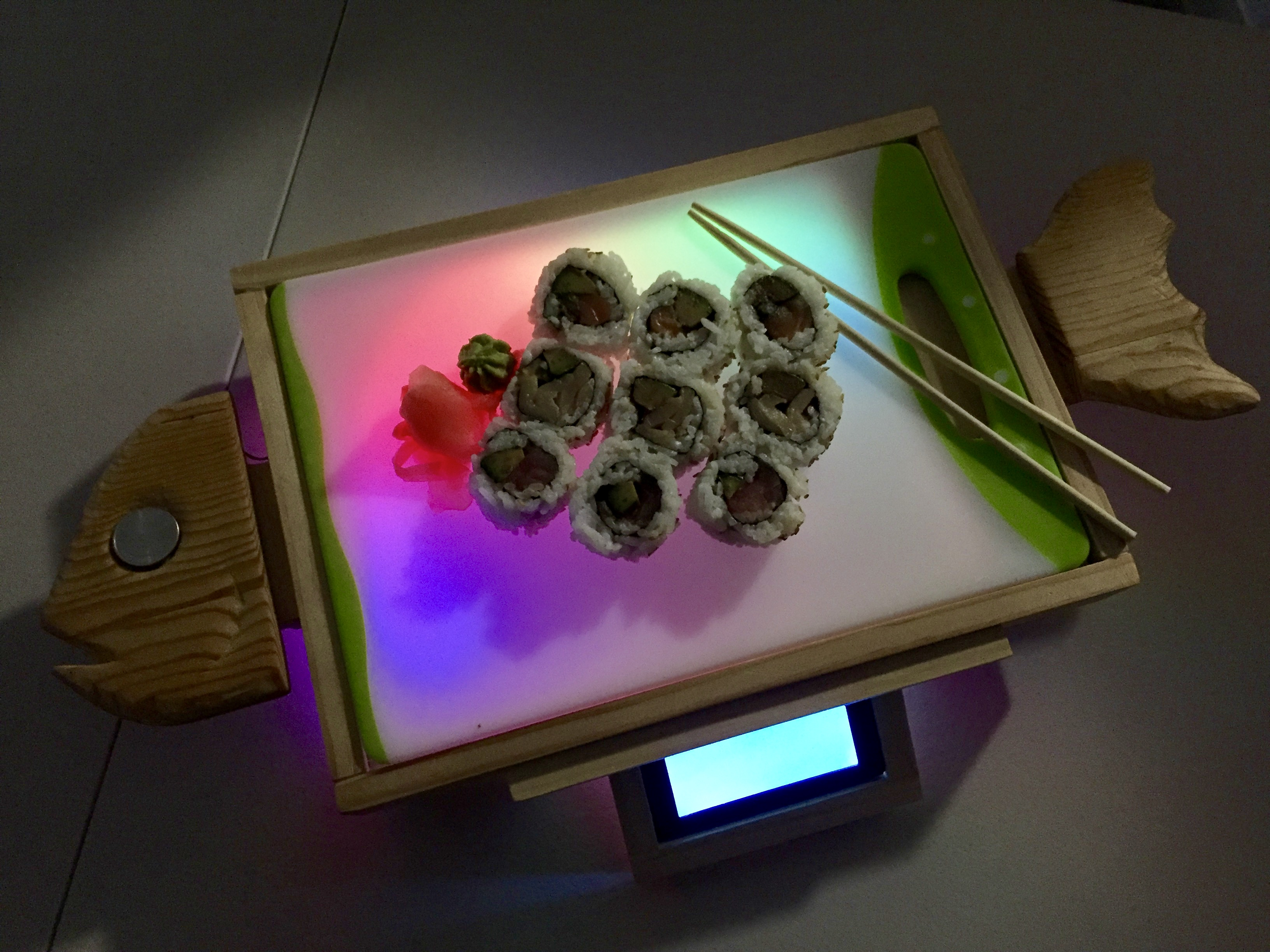 Picture of Neopixel Light Up Sushi Serving Board