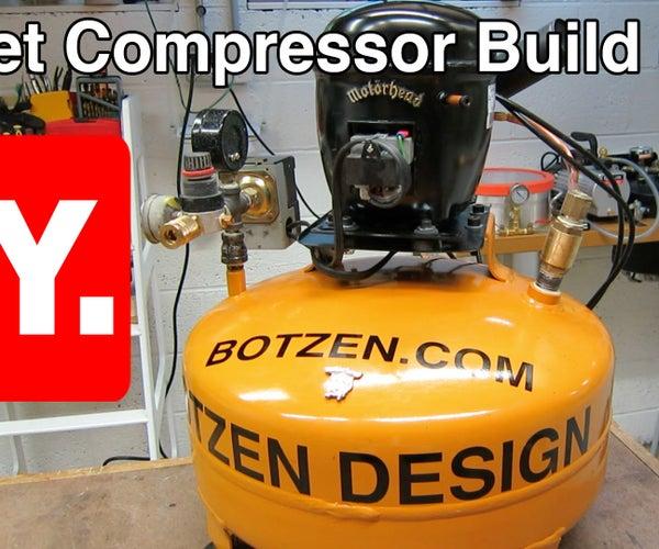 D.I.Y Ultra Quiet Shop Compressor From a Refrigerator Motor (compressor)