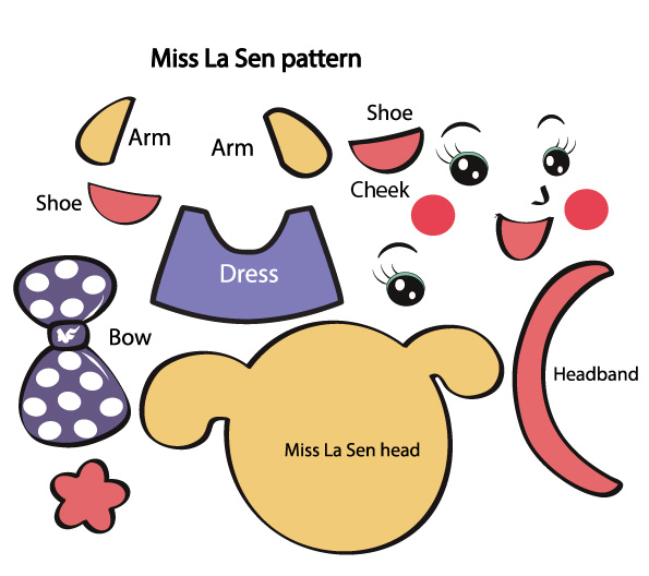 Picture of Download the Pattern for the Miss La Sen Shape. Print It Out in A4 Size Paper.