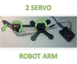 3D Printed 2 Servo Robot Arm