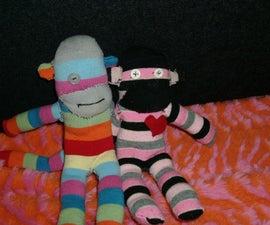 Make a Valentine's Day sock monkey!