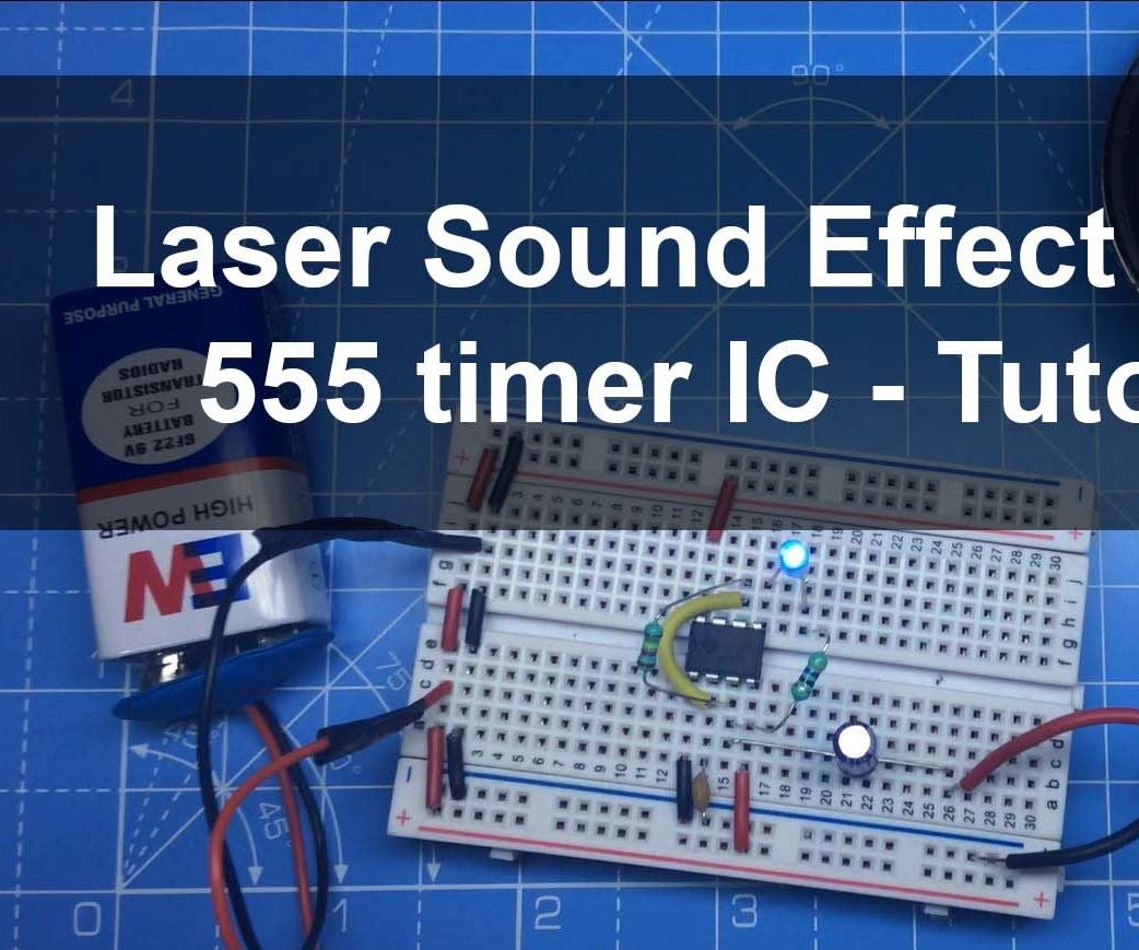 Laser Sound And Led Flasher Using 555 Timer Ic 4 Steps With Pictures Lm555 Circuits Pearltrees