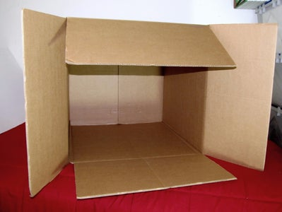 Ensure the Box Is Rotated So That the Gap Between the Inner Flaps Is Vertical