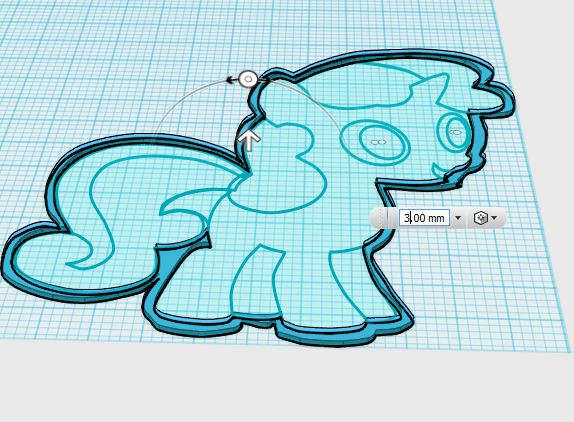 Picture of 123D Design to Extrude the Pony Parts...