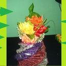 DIY Flower Vase out of waste news paper