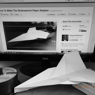 How to Make the Stratowarrior Paper Airplane
