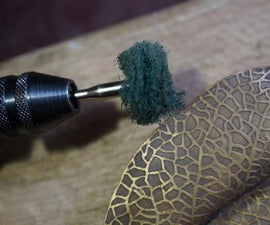 Satin finishing wheel for your Dremel/Foredom Flexishaft/mini-drill