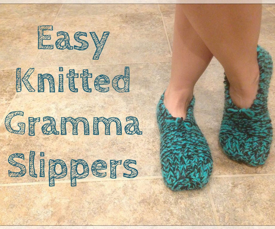 658a19892ff0 Easy Knitted Gramma Slippers  9 Steps (with Pictures)