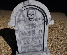Create a Creepy Old Tombstone