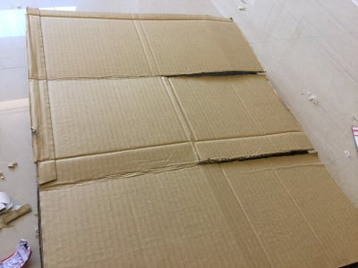 Cut the Cardboard- the Folding Board