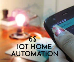 Control Home Appliances With Phone and Internet of Things Under 6 $