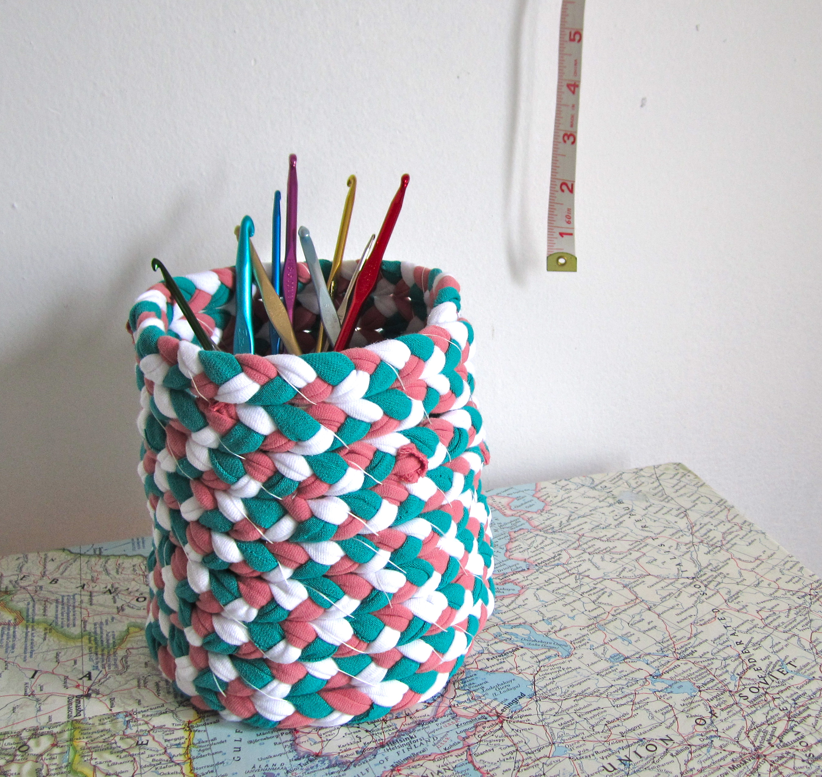 Picture of Braided T-shirt Yarn Basket
