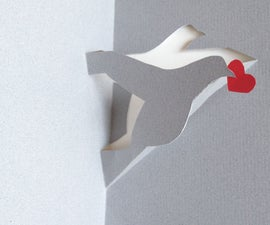 How to make a pigeon or a dove (or a stork) with a single sheet of paper