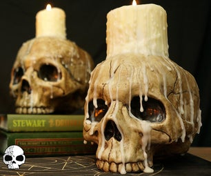 Halloween Skull Candle Props