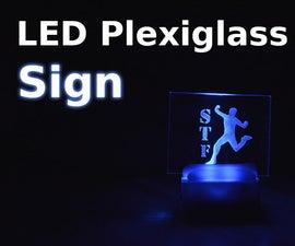 LED Acrylic Glass Sign