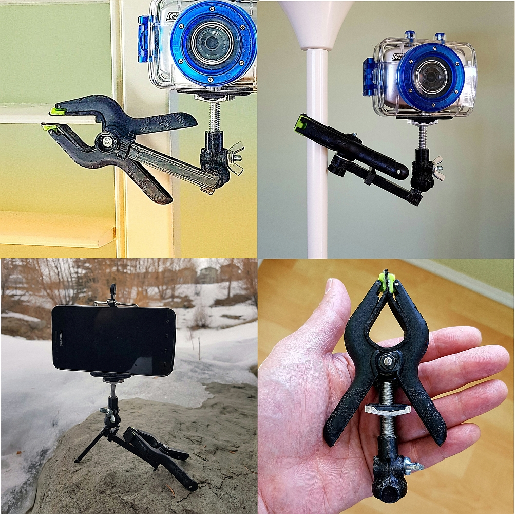 Picture of Collapsible Spring Clamp Camera Mount / Tripod