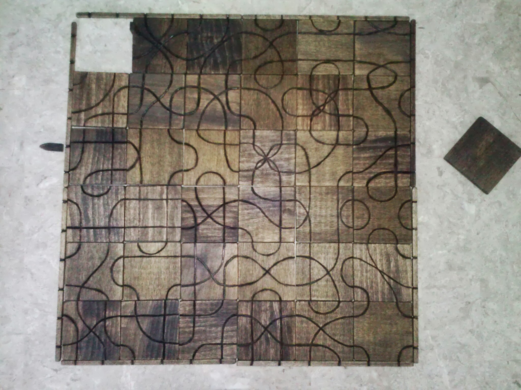 Picture of Wood Burnt Tsuro Game With Enclosure