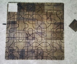 Wood Burnt Tsuro Game With Enclosure